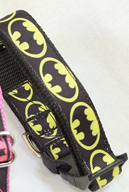 BatMan Black and Yellow  Nylon Collar